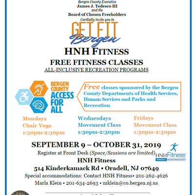 HNH FITNESS: FREE FITNESS CLASSES ALL-INCLUSIVE RECREATION PROGRAMS